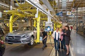 Werkbesichtigung bei Mercedes