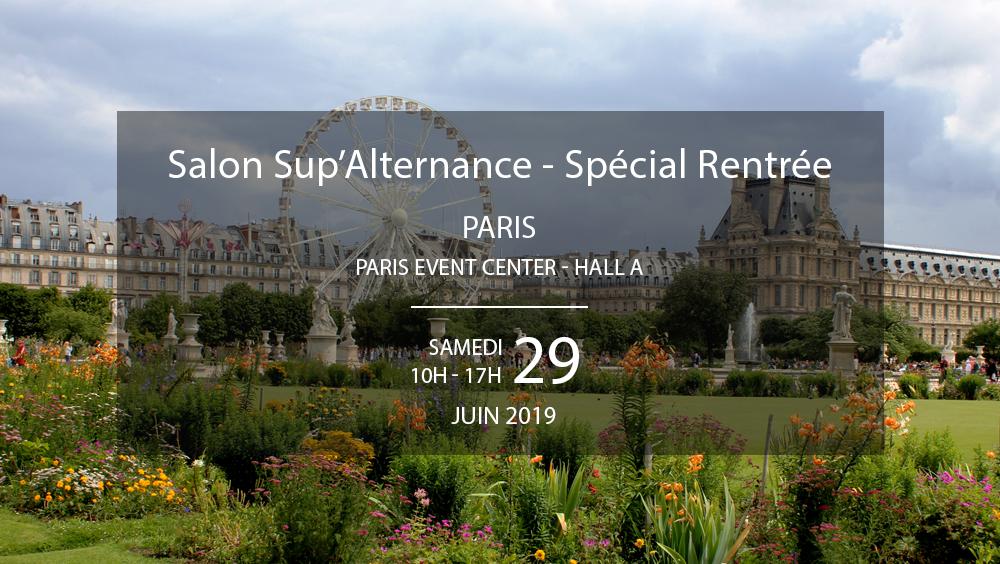 Salon Sup'Alternance Studyrama Paris Juin 2019